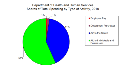 Department of Health and Human Services Spending by Type of Activity